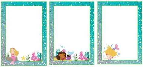 marcos invitaciones tarjetas o etiquetas de bellas sirenas beb 233 s para imprimir gratis oh my