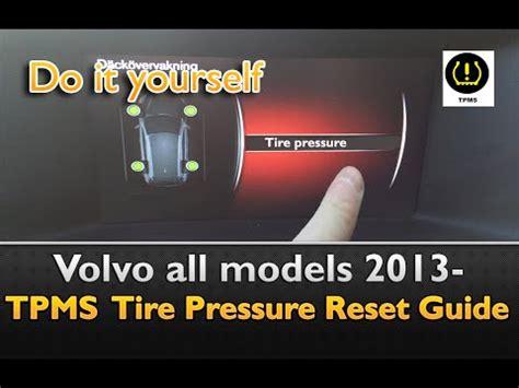 volvo tpms  xc   xc tire pressure set youtube