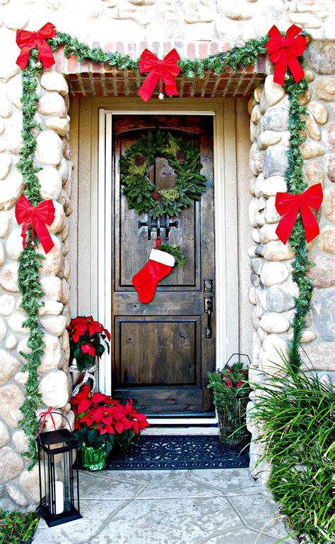 christmas decorated door 50 best christmas door decorations for 2017