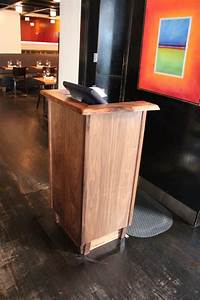 Hand Made Live Edge Restaurant Podium By Peter Lawrence