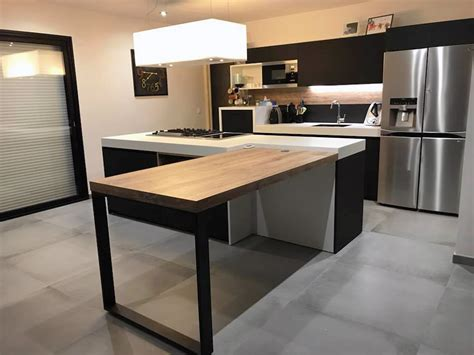 cuisine avec piano central emejing cuisine lineaire avec ilot contemporary design