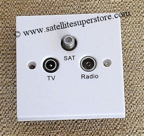 Tv Plate Satellite Outlet Plates Satellite Wall Plates Multiswitch Triplexing And Outlet Plates