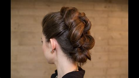 easy knotted faux mohawk updo youtube
