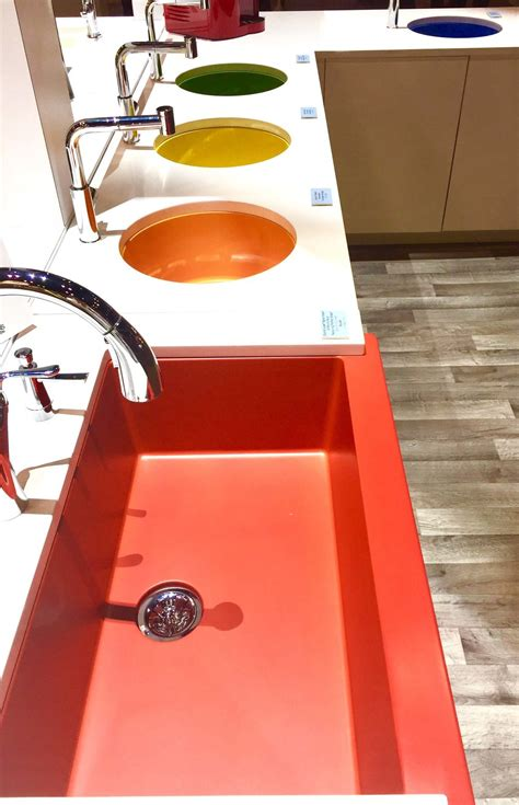 colored sinks kitchen kitchen and bath trends at kbis 2017 sinks and faucets 2333
