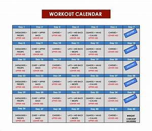10  Sample Workout Calendar Templates In Pdf