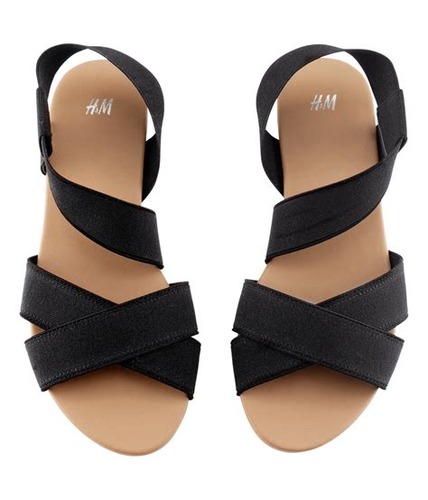 lyst hm sandals  black