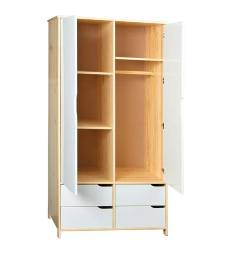armadio pino armadio pino naturale ed ante 4 cassetti bianco