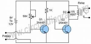 sensitive moisture sensor circuit diagram With plant water alarm