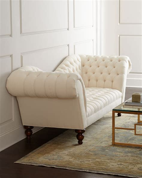 hickory tannery ellsworth neutral recamier sofa
