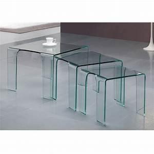 Table Gigogne Design : table gigogne en verre tank prix d 39 usine designement ~ Teatrodelosmanantiales.com Idées de Décoration