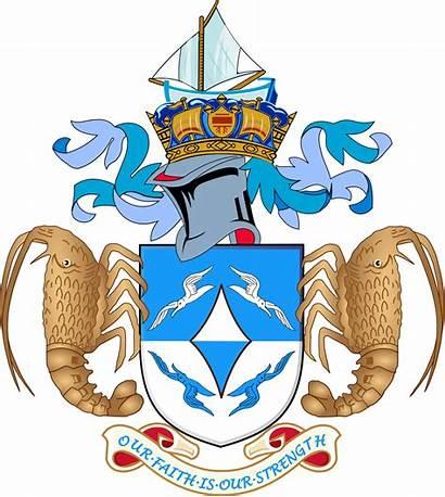 Arms Coat Tristan Cunha Da Wikipedia Svg