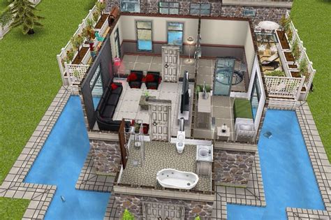 sims freeplay second floor house 3 1st building 2nd floor plan sims freeplay