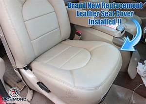 2000 Ford F-250 Lariat Leather Seat Cover  Passenger Bottom  Tan