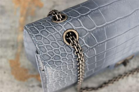 chanel p blue crocodile  reissue jumbo double flap bag
