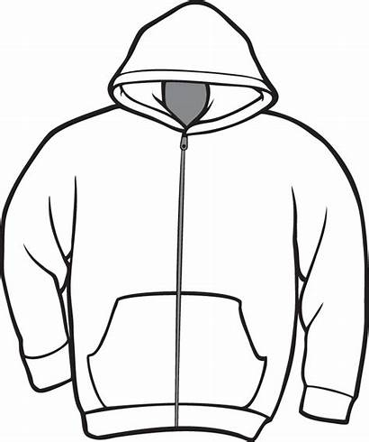Hoodie Clipart Template Jacket Shirt Printable Drawing