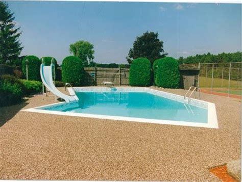 Resurface Swimming Pool Deck by Rustic Terrazzo Swimming Pool Or Spa Deck Concrete Pool