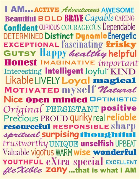 this is who i am items similar to positive attributes poster on etsy