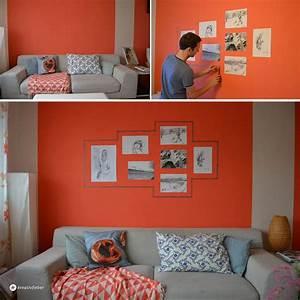 Bilderrahmen Aufhängen Ohne Nagel : diy gallerywall mit maskingtape ~ Indierocktalk.com Haus und Dekorationen