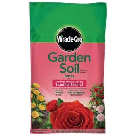 miracle gro 1 cu ft garden soil for roses 73551430 the