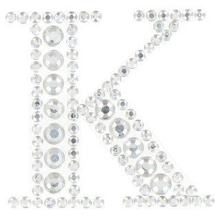 clear rhinestone crystal sticker letter  hobby lobby  stick    front