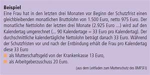 Zuschuss Mutterschaftsgeld Berechnen : lexikon frauenratgeber mutterschaftsgeld ~ Themetempest.com Abrechnung
