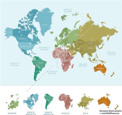 Опънат фото таван Континенти и държави [Опънати фото ...