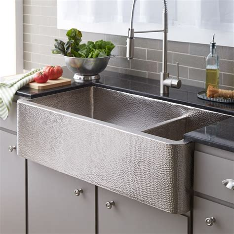 farm house kitchen sink farmhouse duet pro brushed nickel sink trails 7131