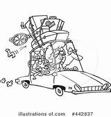 Trip Road Clipart Illustration Royalty Toonaday Coloring Rf Template sketch template