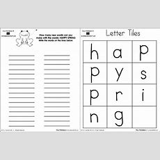 "How Many Words Can You Make From The Letters In ""happy Spring""? Happy Spring Making Words"