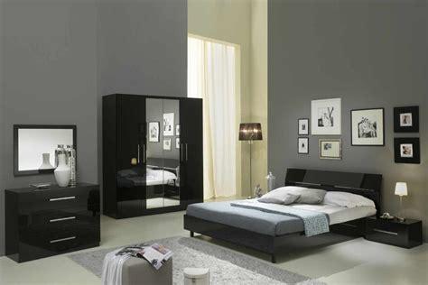 chambre a coucher moderne pas cher mina laque noir ensemble chambre coucher inspirations et