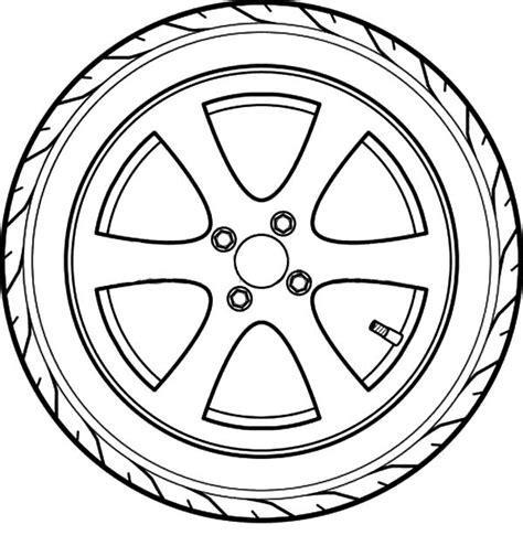 car tire outline coloring pages  place  color