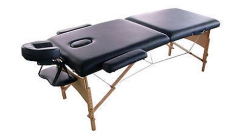 portable massage table carry bag mcombo 2 quot black pu portable massage table bed with carry