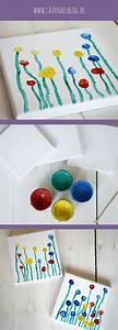 Einfache Bastelideen Für Kleinkinder : diy idee eine blumenwiese aus fingerabdr cken diy kinder einfache bastelideen f r kinder und ~ Orissabook.com Haus und Dekorationen