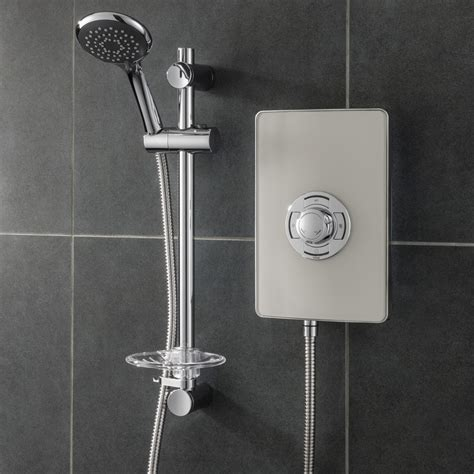 Electric Showers by Collection 2 Electric Shower Warm Grey Triton Showers