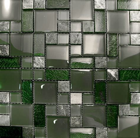 Glass Mosaic Tile Kitchen Backsplash by 10sf Marble Green Glass Pattern Mosaic Kitchen