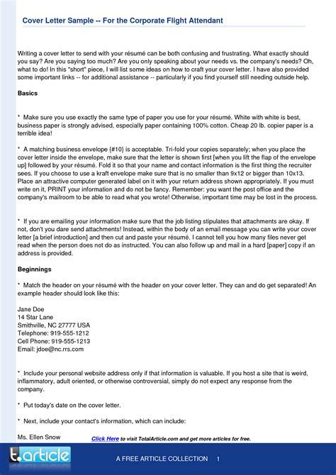 Flight Attendant Cover Letters by Flight Attendant Cover Letter Template Resume Template