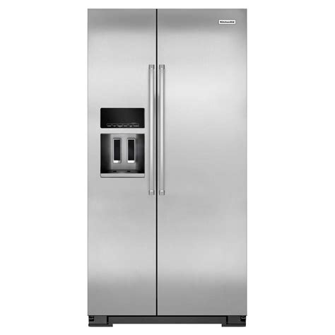 counter depth refrigerator dimensions kitchenaid kitchenaid 36 in w 22 7 cu ft side by side refrigerator