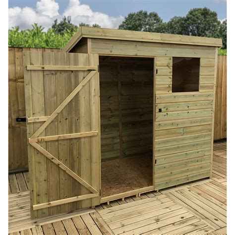 6 x 3 shed 6 x 3 pressure treated tongue and groove pent shed with 1