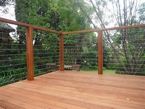 Wood And Wire Mesh Deck Railing : Doherty House - Find