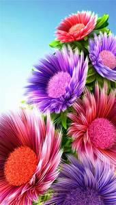 3d Color Flowers Iphone 5 HD Wallpaper