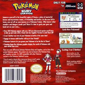 Pokemon Ruby Version Box Shot For Game Boy Advance Gamefaqs