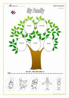 preschool family tree template  family tree family