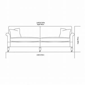 Small sofa dimensions thesofa for Large sectional sofa dimensions