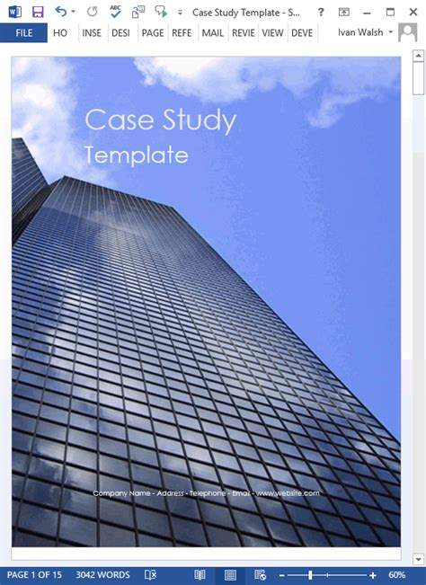 case study templates ms word   write tutorial