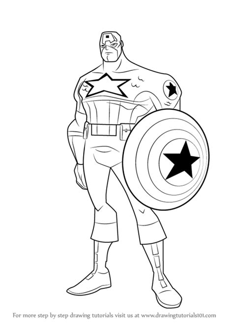 learn how to draw captain america from the avengers