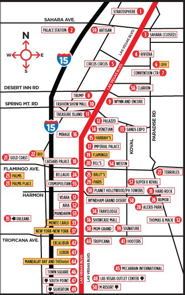 vegas strip map las vegas sin city parties