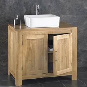 Alta 90cm Freestanding SOLID OAK Double Door Cabinet Sink
