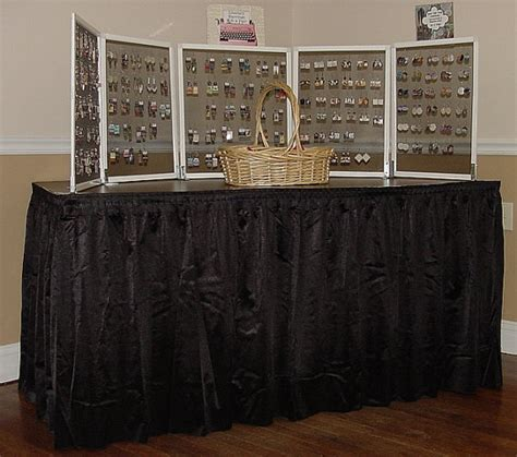 trade show table skirts crafts trade show dj party table skirts black pleated