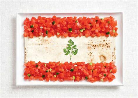 lebanon flag   food