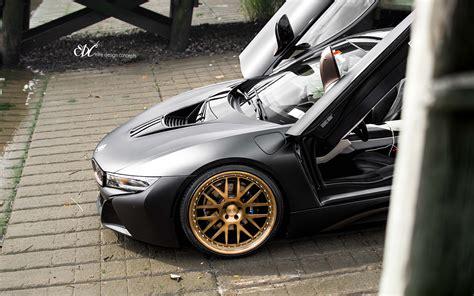 Matte Black Bmw I8 Upgraded With Custom Edc Wheels